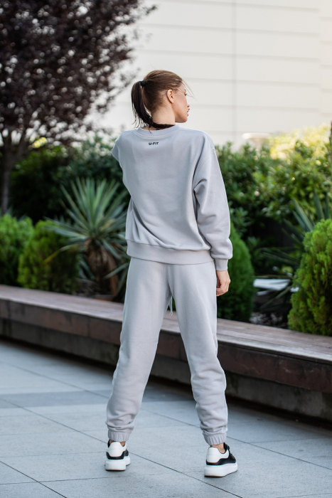 Set Easy-Fit bluza oversized si pantalon Grey [2]