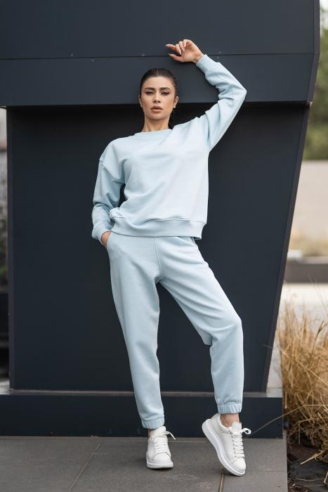Set bluza si pantalon Oversized Easy-Fit Sky Blue [3]