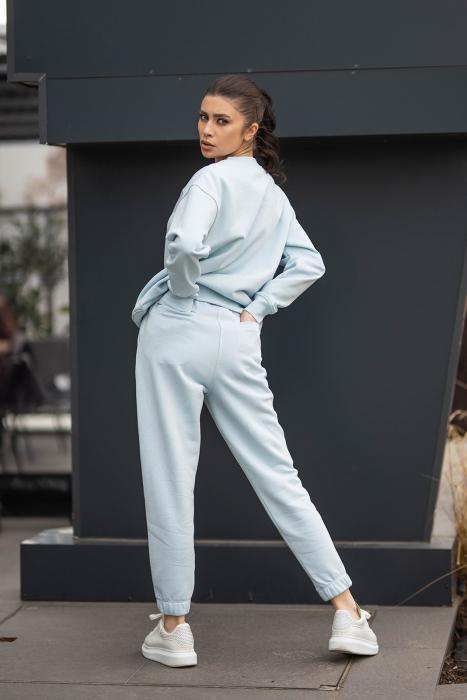 Set bluza si pantalon Oversized Easy-Fit Sky Blue [1]