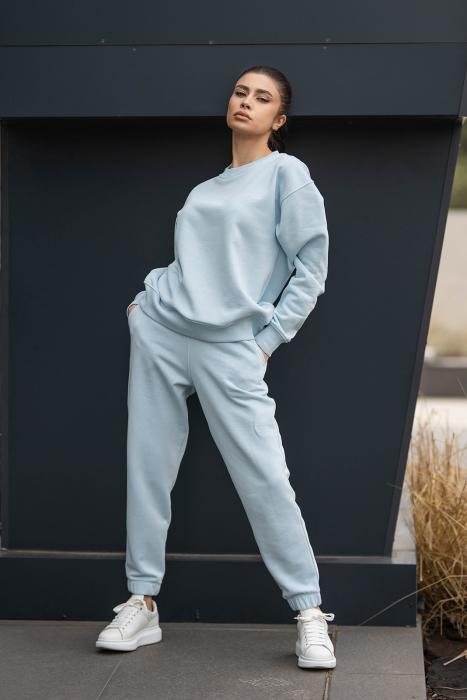 Set bluza si pantalon Oversized Easy-Fit Sky Blue [4]