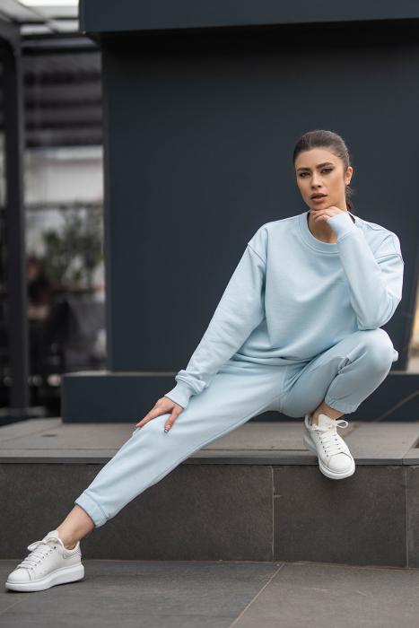 Set bluza si pantalon Oversized Easy-Fit Sky Blue [0]