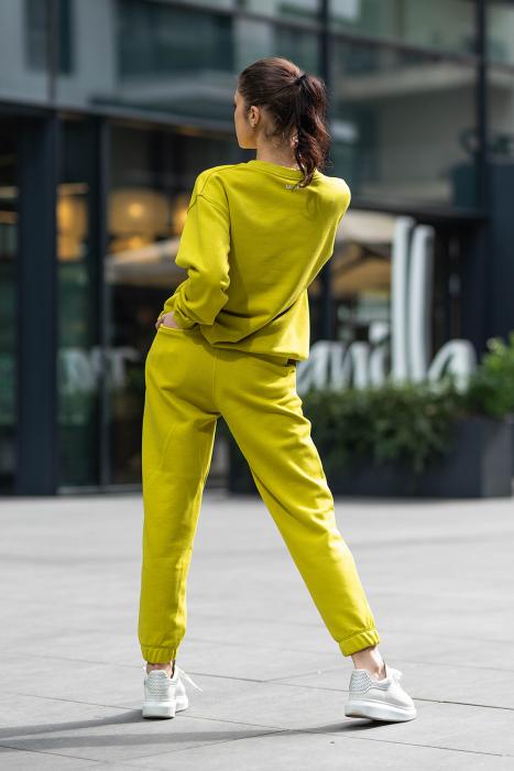 Set Easy-Fit bluza si pantalon Oversized Lime Green [1]