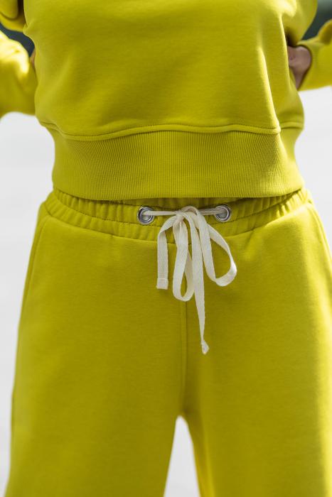 Set Easy-Fit bluza si pantalon Oversized Lime Green [5]