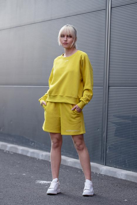 Set Elise Bluza si Pantalon Scurt Lime Green [3]