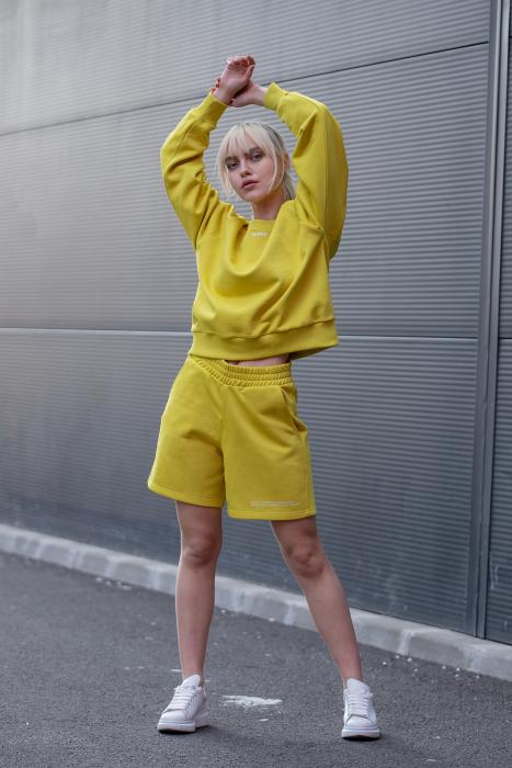 Set Elise Bluza si Pantalon Scurt Lime Green [0]