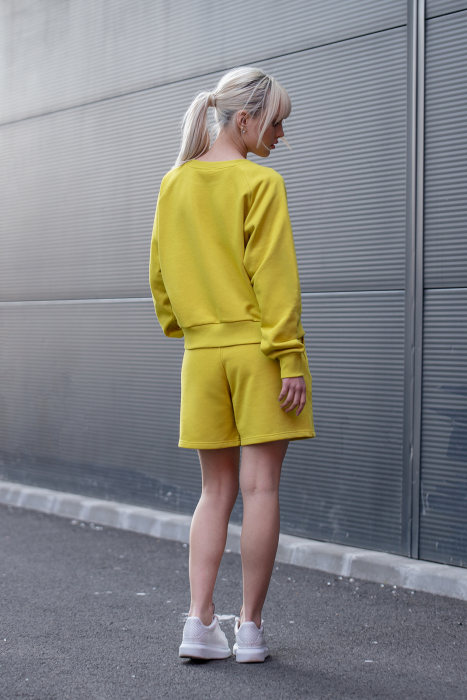 Set Elise Bluza si Pantalon Scurt Lime Green [7]