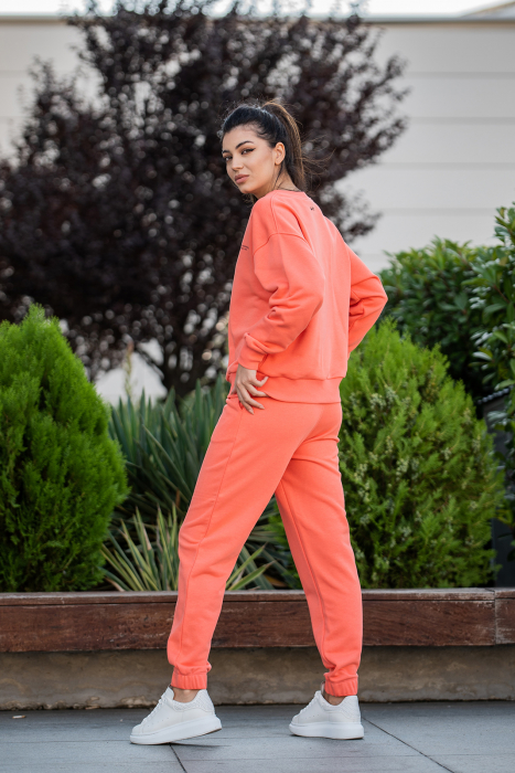 Set Easy-Fit bluza Oversized si pantalon Living Coral [5]