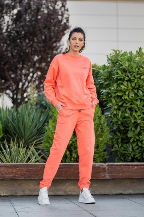 Set Easy-Fit bluza Oversized si pantalon Living Coral [2]