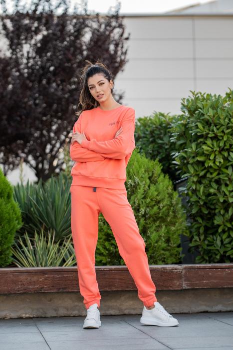 Set Easy-Fit bluza Oversized si pantalon Living Coral [0]