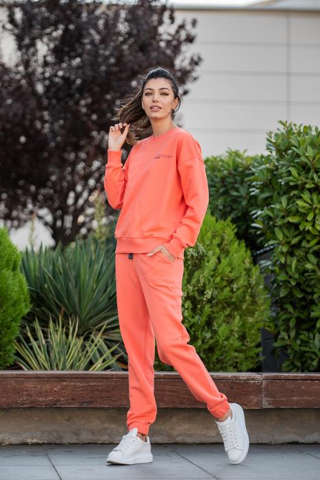 Set Easy-Fit bluza Oversized si pantalon Living Coral [3]