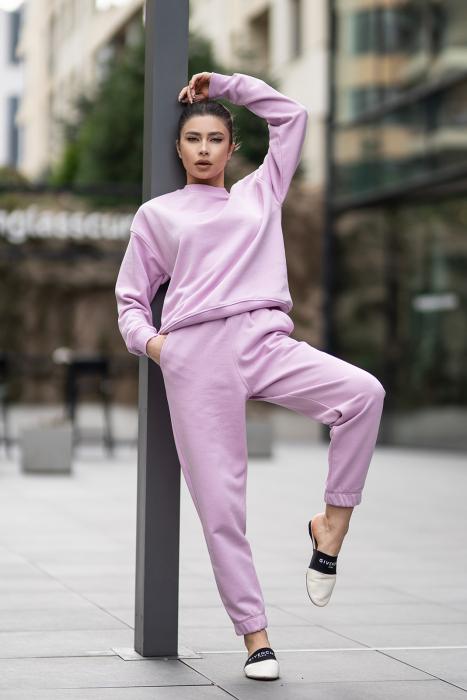 Set bluza si pantalon Oversized Easy-Fit Lila [1]