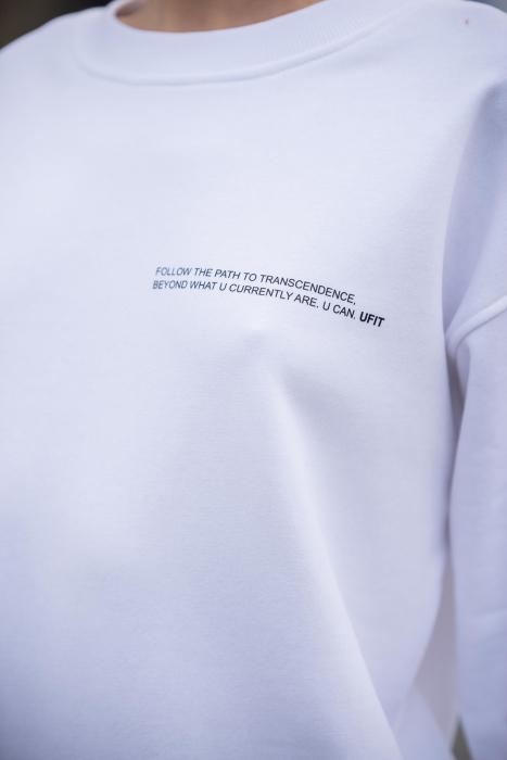 Set Easy-Fit bluza si pantalon Oversized Off White [3]
