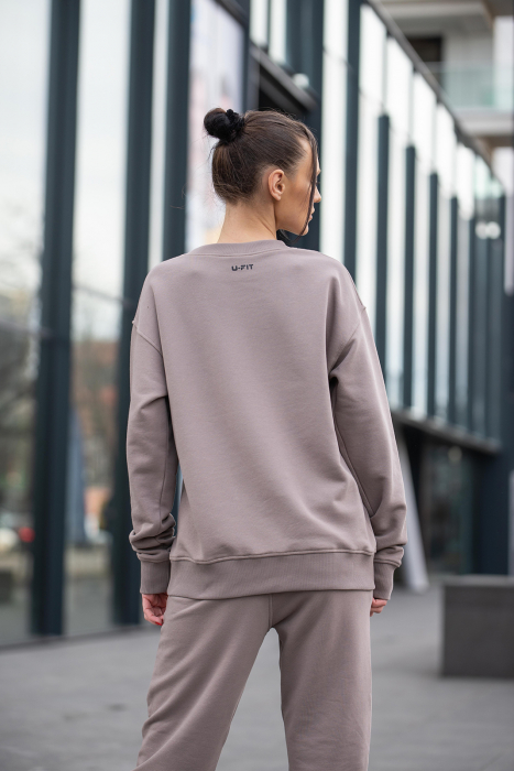 Bluza Easy-Fit Oversized Warm Taupe [3]