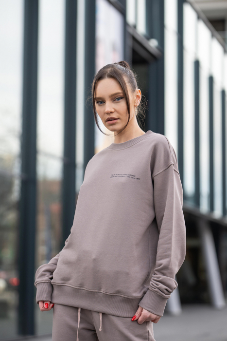 Bluza Easy-Fit Oversized Warm Taupe [1]