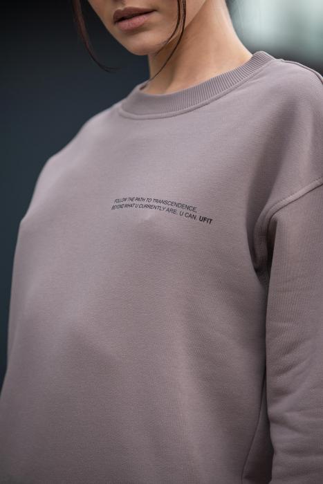 Set bluza si pantalon Oversized Easy-Fit Warm Taupe [5]