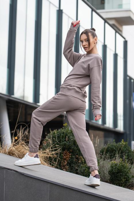 Set bluza si pantalon Oversized Easy-Fit Warm Taupe [0]