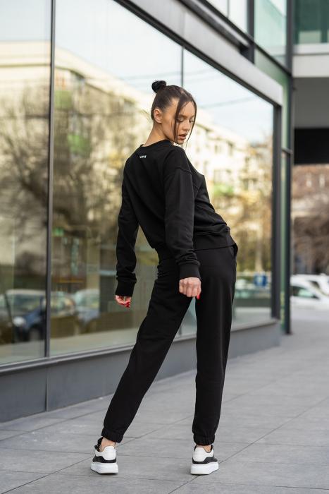 Set bluza si pantalon Oversized Easy-Fit Black [6]