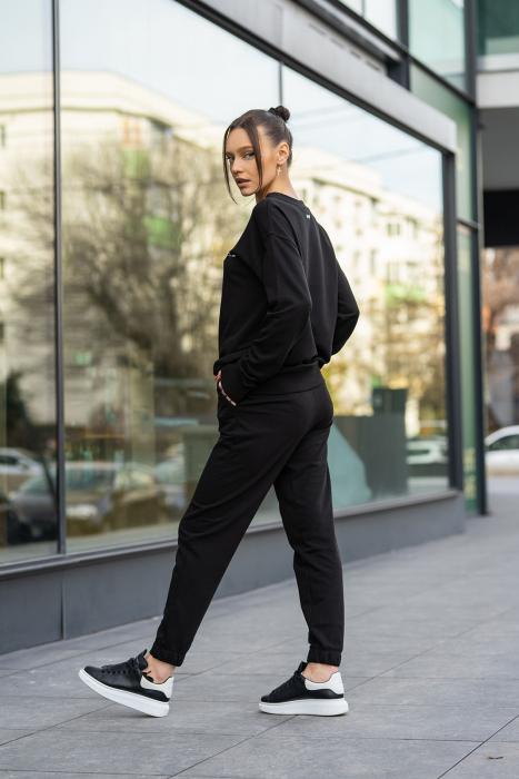 Set bluza si pantalon Oversized Easy-Fit Black [3]