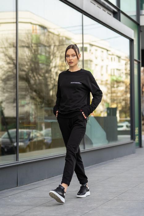 Set bluza si pantalon Oversized Easy-Fit Black [0]