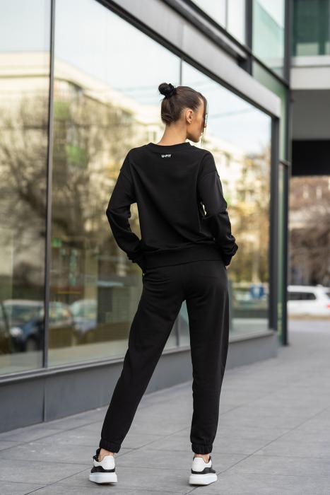 Set bluza si pantalon Oversized Easy-Fit Black [5]