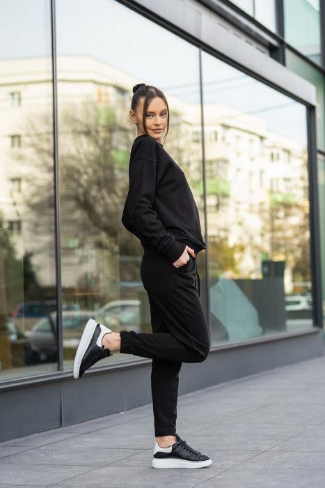 Set bluza si pantalon Oversized Easy-Fit Black [4]