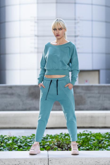 Set Unbroken II bluza si pantalon Dusty Turquoise [1]
