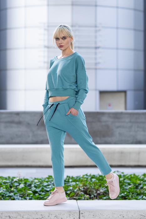 Set Unbroken II bluza si pantalon Dusty Turquoise [0]