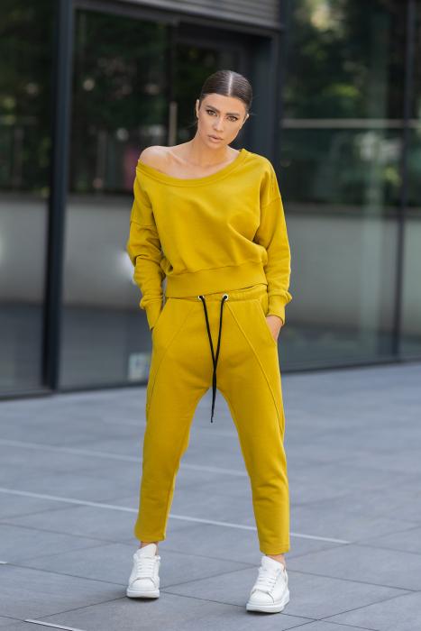 Set Unbroken II bluza si pantalon Mustard [6]