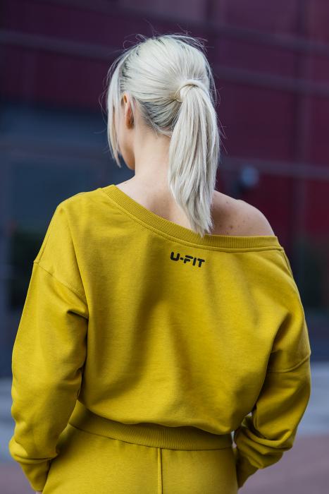 Set Undone Bluza si Pantalon Scurt Mustard Yellow [6]