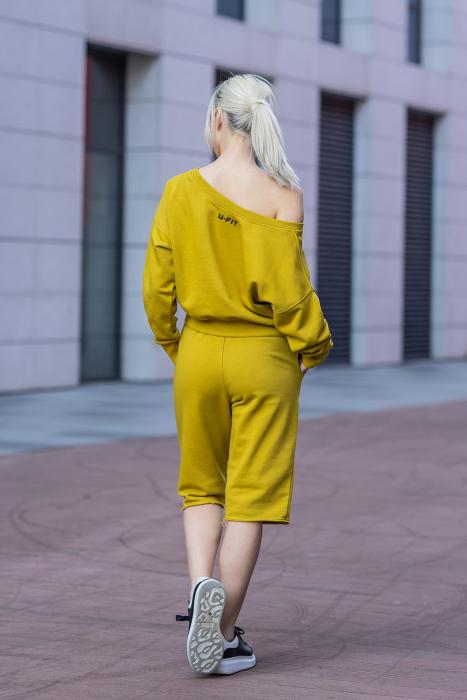 Set Undone Bluza si Pantalon Scurt Mustard Yellow [4]