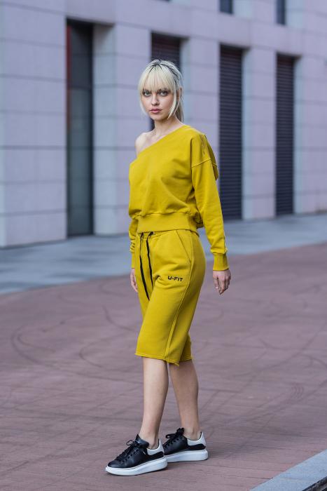Set Undone Bluza si Pantalon Scurt Mustard Yellow [0]