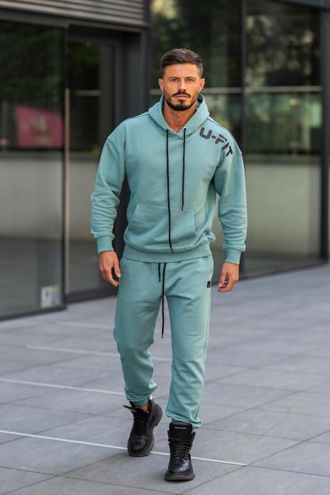 Set Cotton California hanorac si pantalon Dusty Turquoise [0]