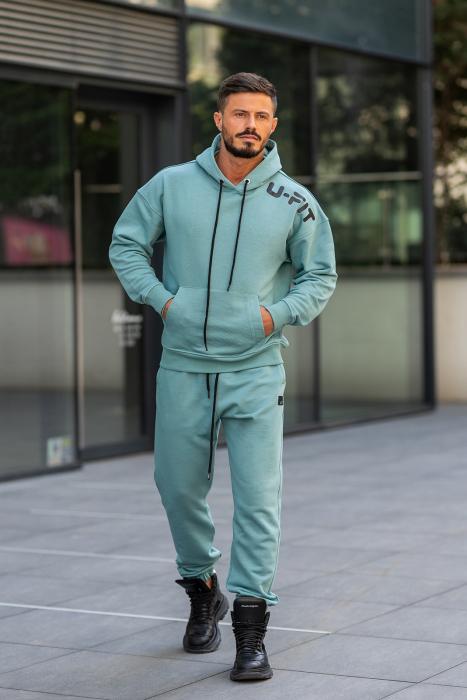 Set Cotton California hanorac si pantalon Dusty Turquoise [4]