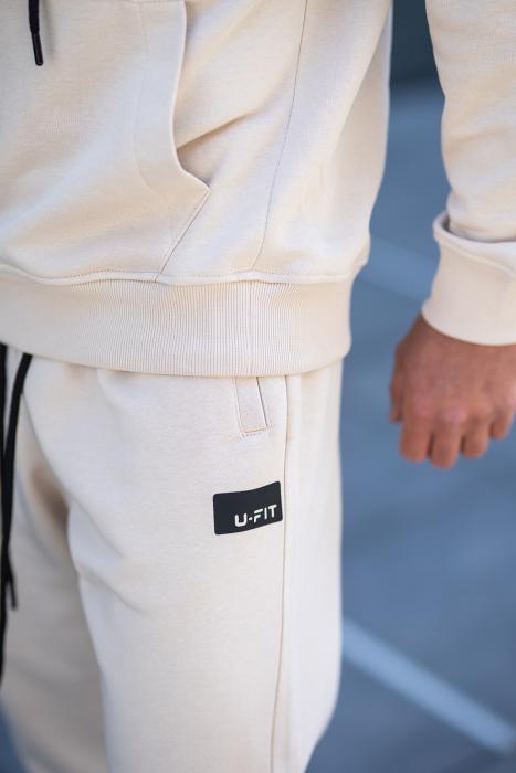 Set Cotton California hanorac si pantalon Light Beige [6]