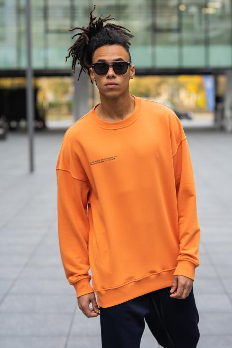 Set West Cartel Bluza Oversized si Pantalon lejer Orange/Navy [6]