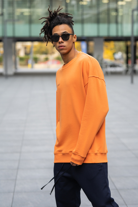 Set West Cartel Bluza Oversized si Pantalon lejer Orange/Navy [7]