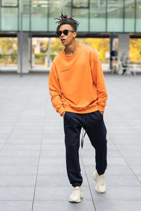 Set West Cartel Bluza Oversized si Pantalon lejer Orange/Navy [0]