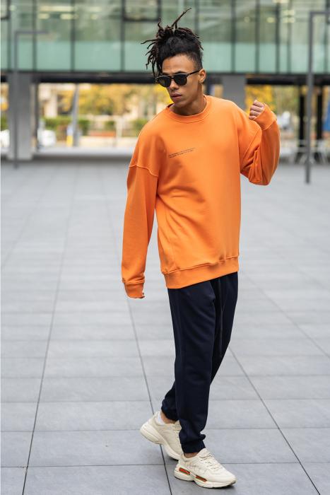 Set West Cartel Bluza Oversized si Pantalon lejer Orange/Navy [2]