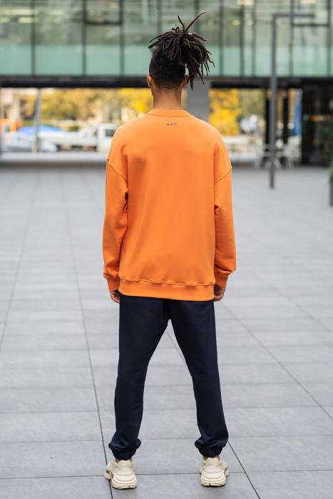 Set West Cartel Bluza Oversized si Pantalon lejer Orange/Navy [3]