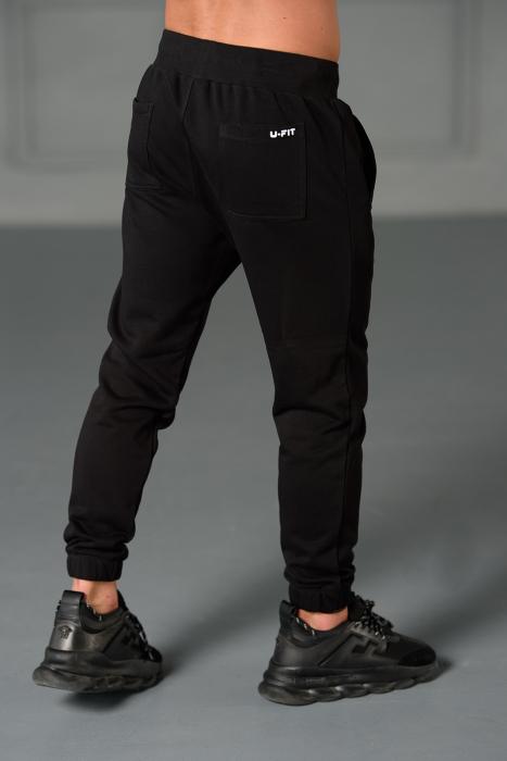 Set Easy-Fit hanorac imprimat si pantalon conic cu tur lasat Black [8]