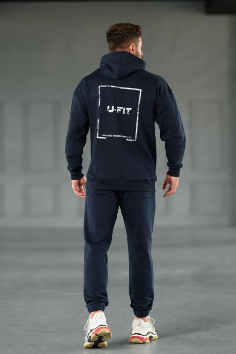 Set Easy-Fit hanorac Oversized si pantalon Easy-Fit Navy [3]