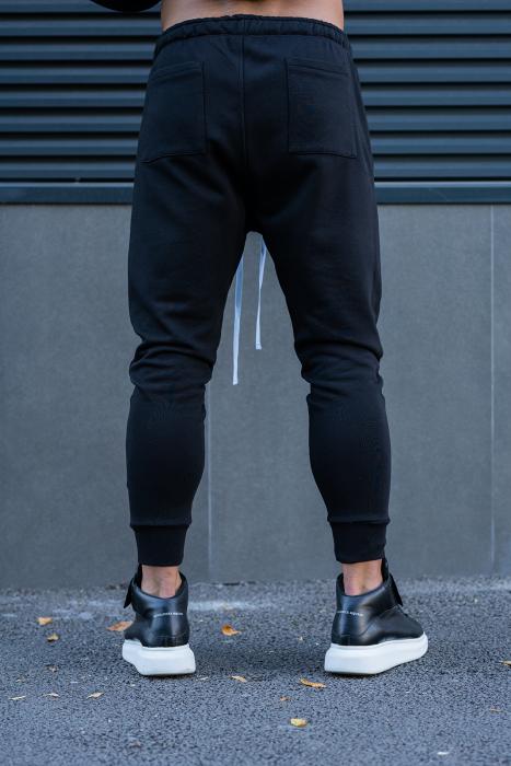 Set Easy-Fit bluza imprimata si pantalon conic negru [12]
