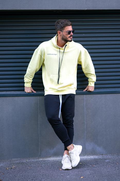 Set Easy-Fit hanorac imprimat si pantalon conic Yellow/Black [2]