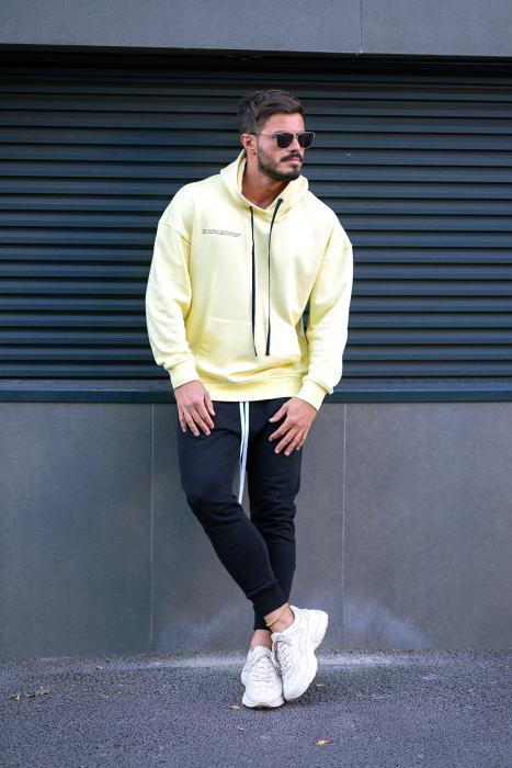 Set Easy-Fit hanorac imprimat si pantalon conic Yellow/Black [1]