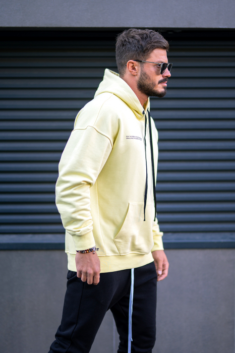 Set Easy-Fit hanorac imprimat si pantalon conic Yellow/Black [5]