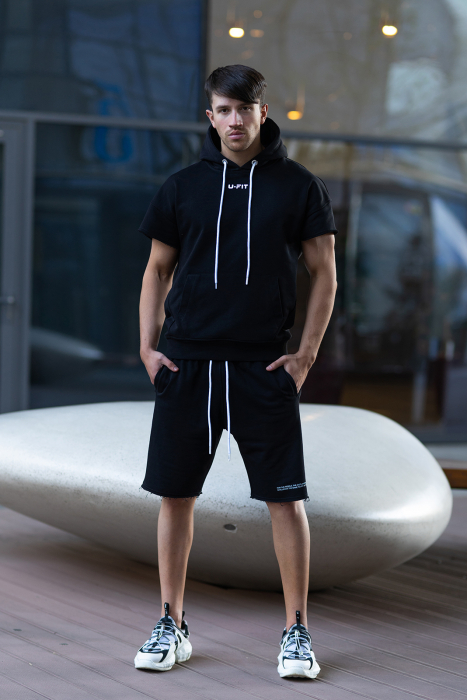 Set Malibu hanorac si pantalon scurt Black [0]