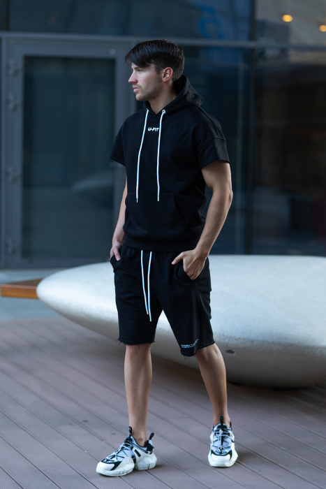 Set Malibu hanorac si pantalon scurt Black [2]