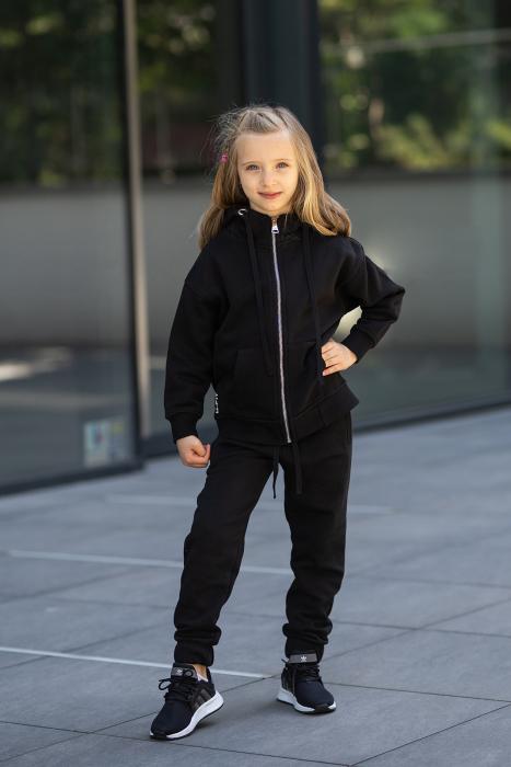 Set Rock-Fit Kids hanorac si pantalon Black [0]