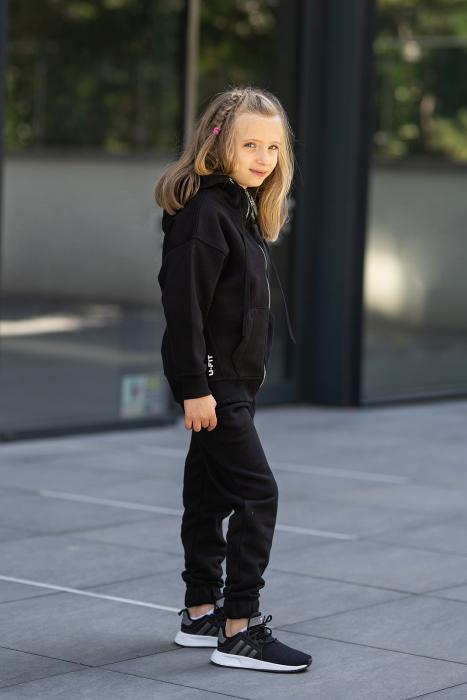 Set Rock-Fit Kids hanorac si pantalon Black [2]
