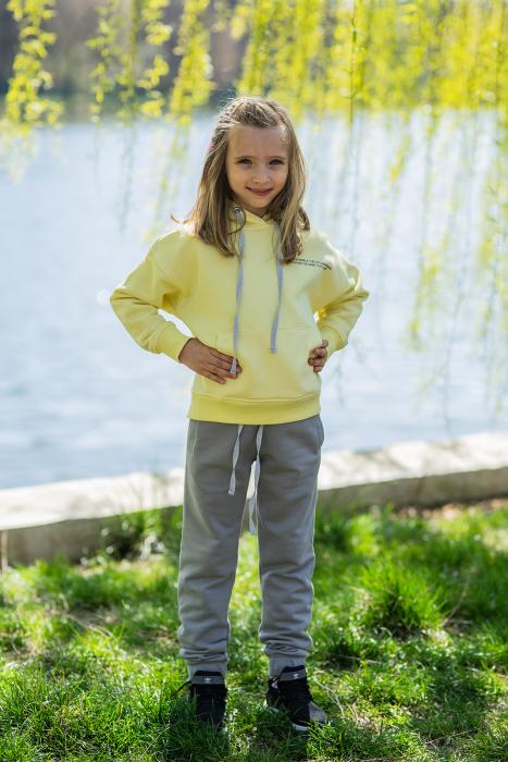 Set Easy-Fit Kids hanorac si pantalon Yellow/Grey [0]